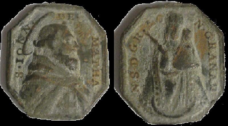 Médaille Jésus de Nazareth - XVIIIème Matha10