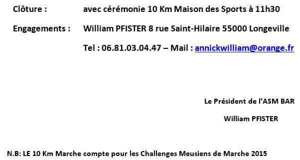 La Longevilloise: 10km; Longeville (55): 04/10/2015 Longev12