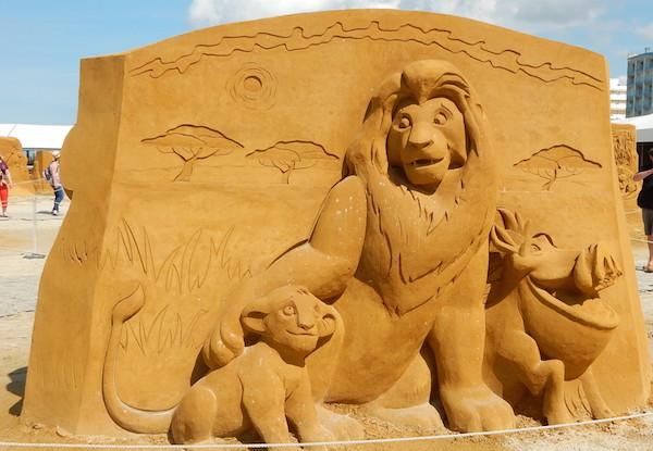 Sculpures sur sable Disney - News Touquet p.1 ! Roi_li10
