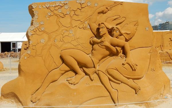 Sculpures sur sable Disney - News Touquet p.1 ! Tarzan10