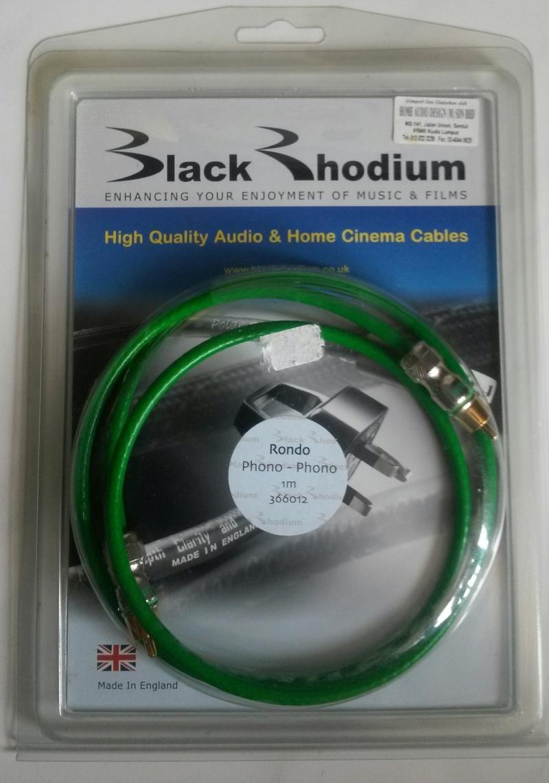 Black Rhodium Rondo 75 ohms Digital Audio Cable - 1m Blackr12