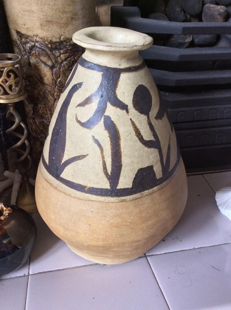 MK mark on large coiled stoneware pot Image27