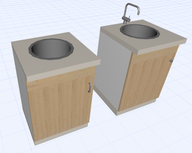 Muebles de cocina no se ven los tiradores en 3d for Muebles de cocina zarate