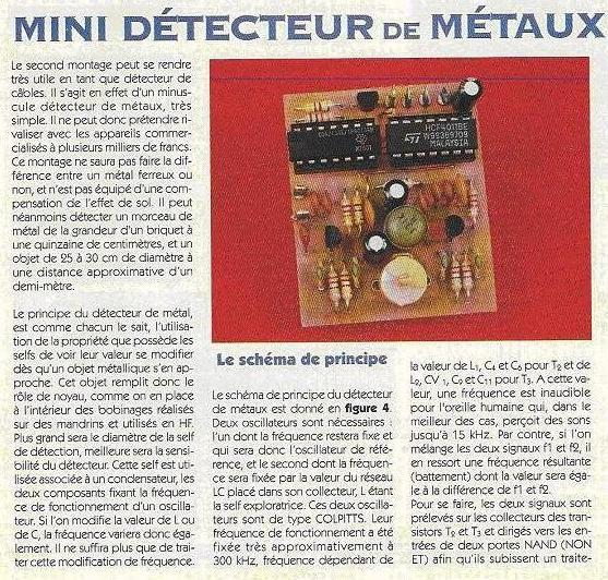 Détecteur de métaux : construction, schéma, plan Detect10