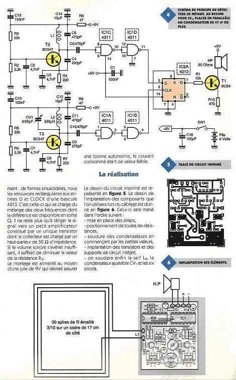 Détecteur de métaux : construction, schéma, plan Detect11