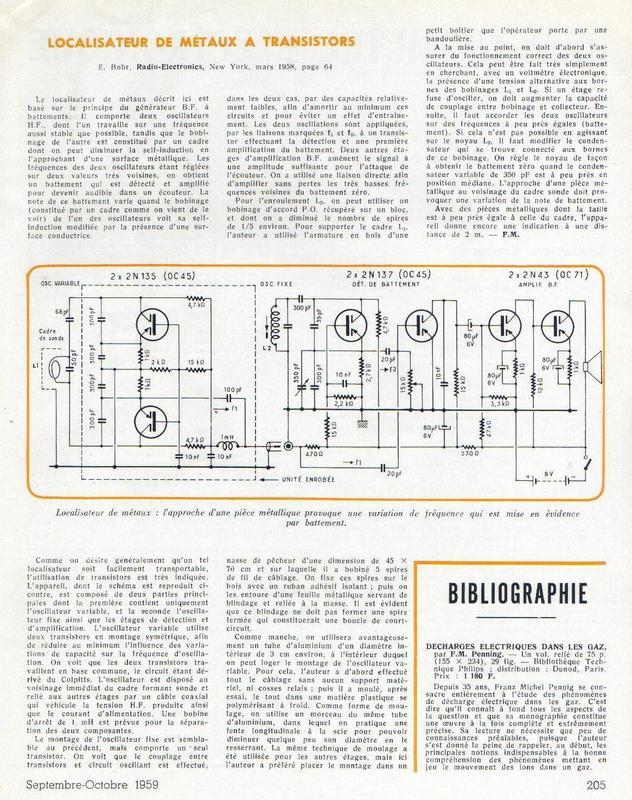 Détecteur de métaux : construction, schéma, plan Dtecte10