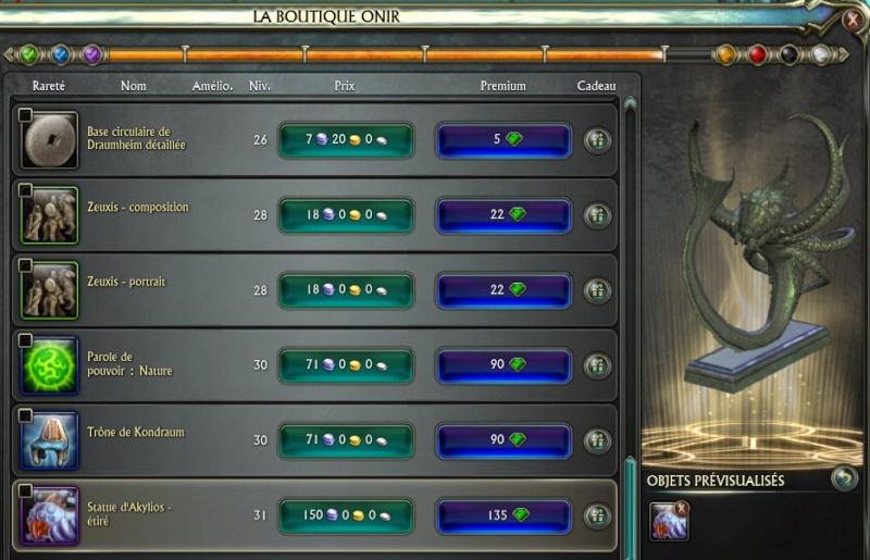 Nouveaux objets de la 3.3 Onir_m11