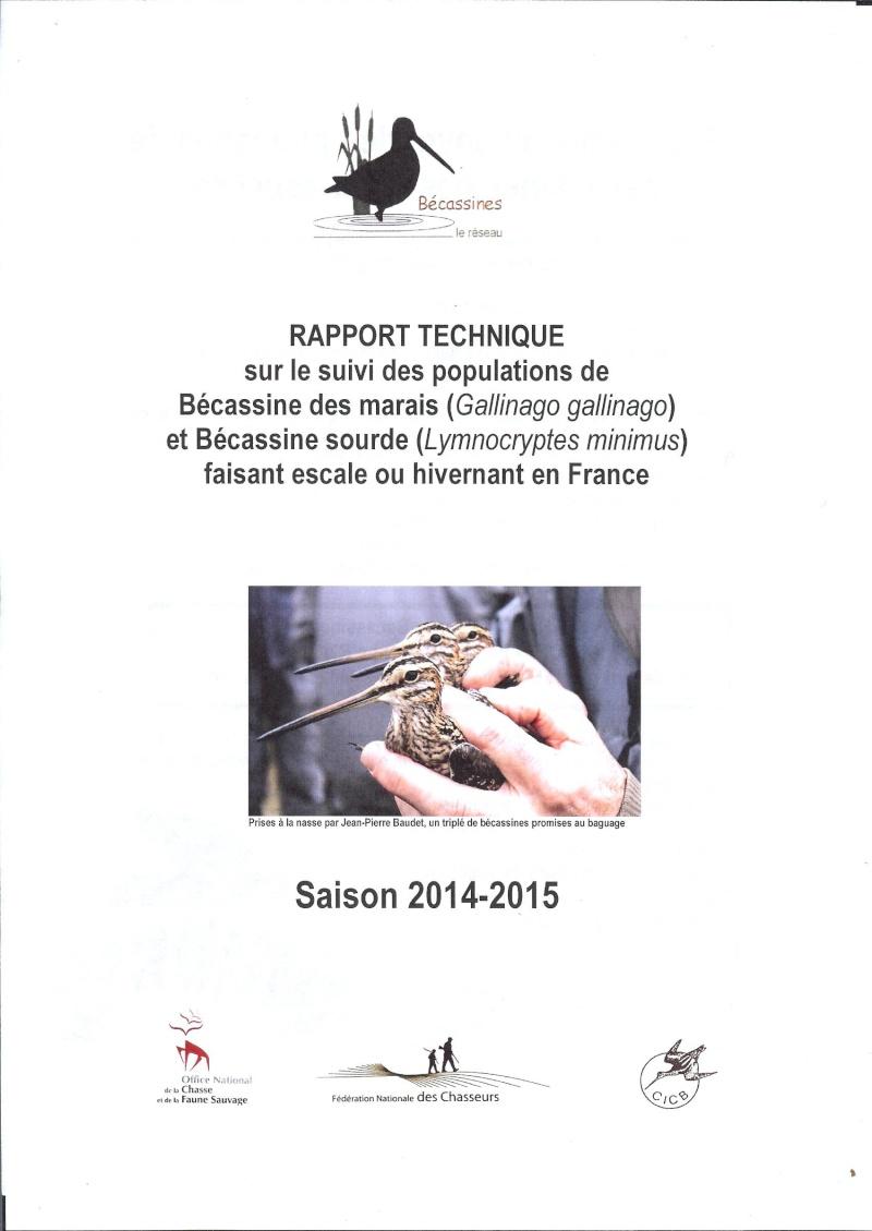Réseau Bécassines, Bilan 2014/2015 Rappor32