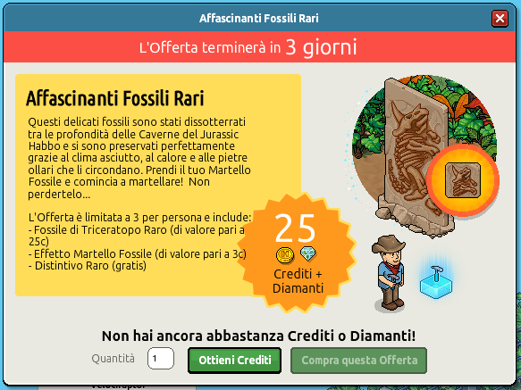 "[ALL] Offerta ""Affascinanti Fossili Rari"" - Raro Fossile Triceratops Scher236"