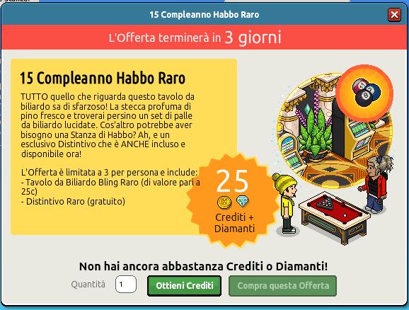 [ALL] 15° Compleanno Habbo Raro - Tavolo da Biliardo Scher459