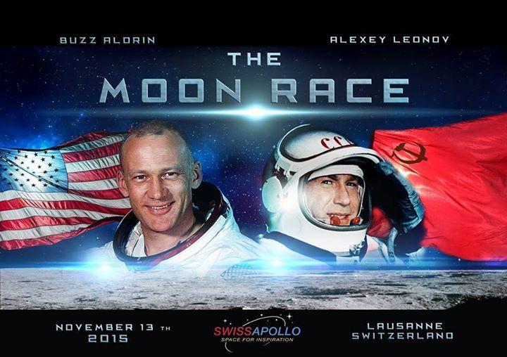 Buzz Aldrin et Alexeï Leonov à Lausanne le 13 novembre 2015. SwissApollo. 10298810