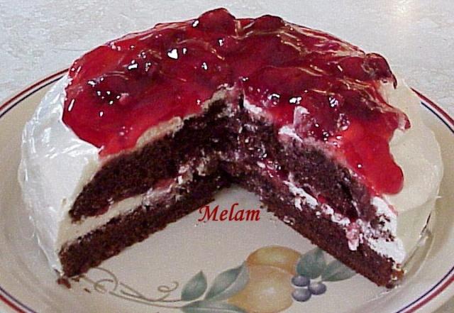 Torte aux cerises et chocolat Gyteau11