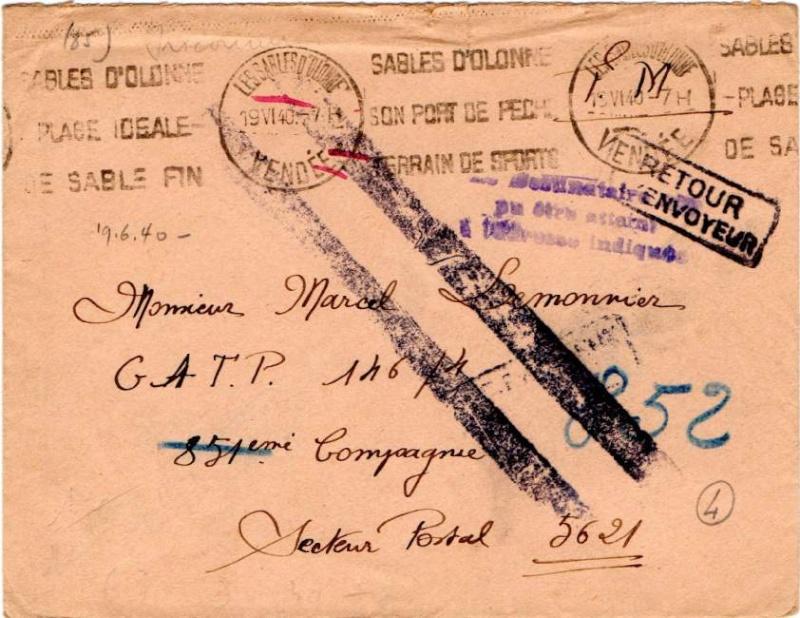 CARTE POSTALE FRANCHISE MILITAIRE PRIORITE pour un prisonnier envoyé  au Feldpostnummer 32000   1940_r10