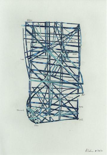 Cartes en bâtonnets et art contemporain (ou plus ancien) Adrian10
