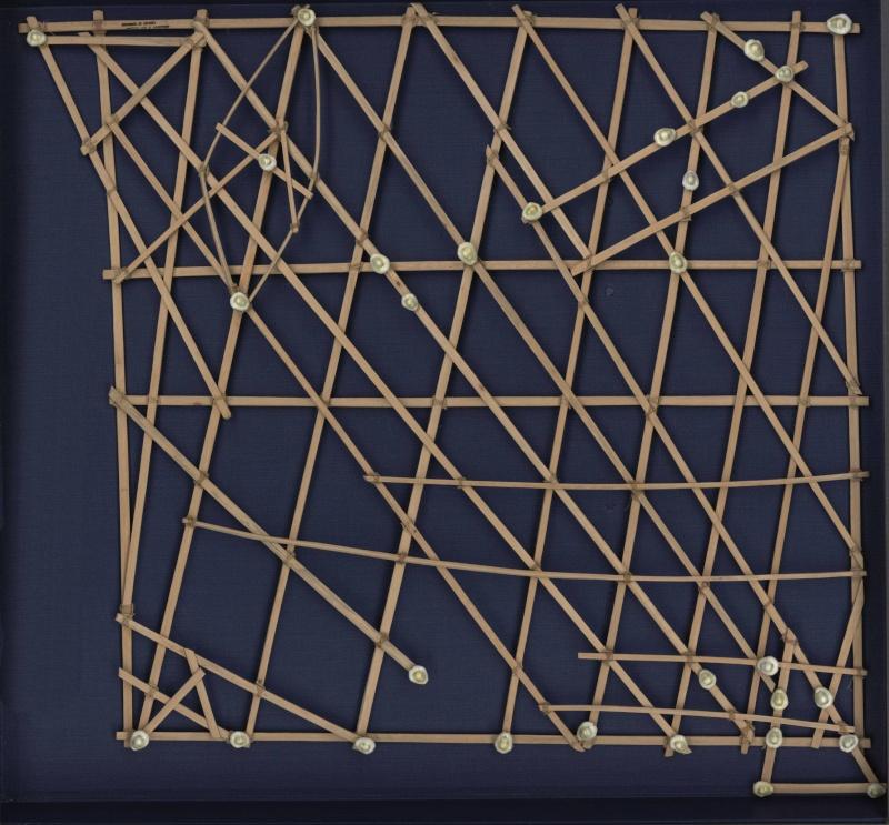 """Les cartes en bâtonnets, ou """"stick charts"""" des Iles Marshall (devinette dédiée à Northman) Fpnxlx10"""