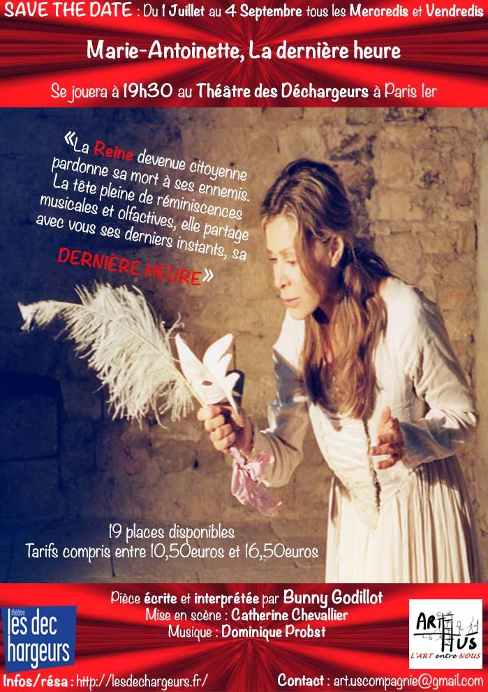 """THÉÂTRE  """"MARIE ANTOINETTE, la dernière heure """" Bunny10"""