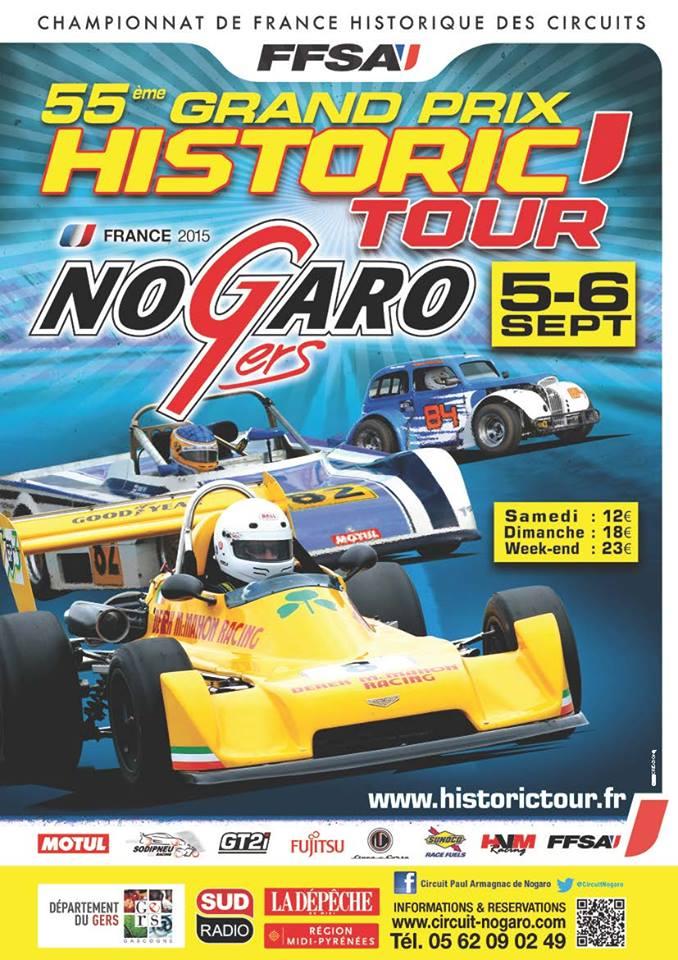 Historic Tour NOGARO - 5 et 6 septembre 2015 Affich11