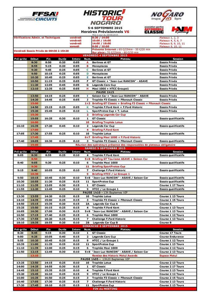 Historic Tour NOGARO - 5 et 6 septembre 2015 Horair10