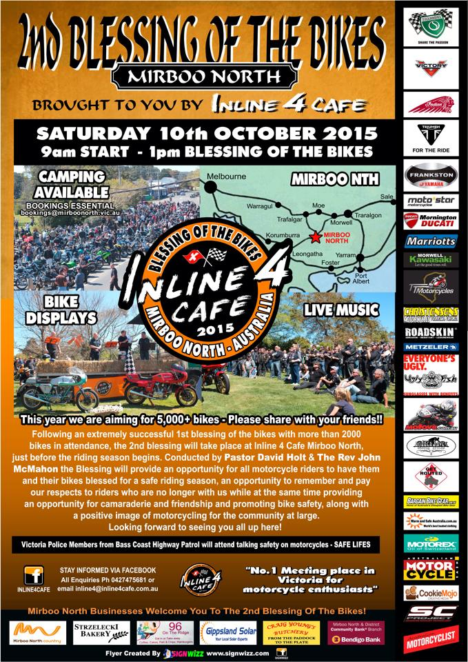 Inline 4 Cafe, Mirboo North, Blessing of the Bikes Sat 10 Oct 2015 Inline10