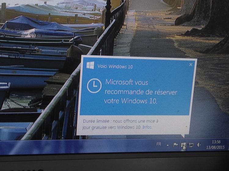 Passage à Windows 10 Window10