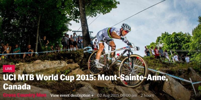 WC XCO 4# - Mont-Sainte-Anne, Canada - 02 aout 2015 Screen30