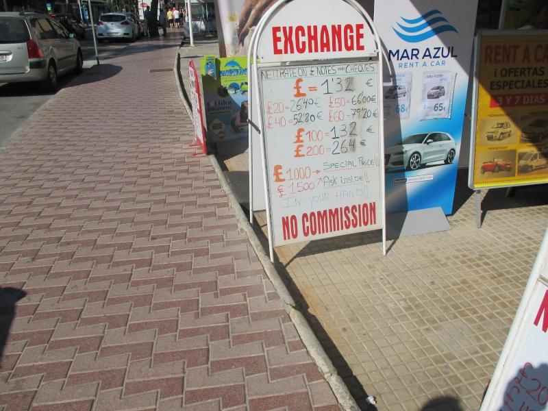 Exchange rates & Taxi Prices in Palma Nova June 2015 03110