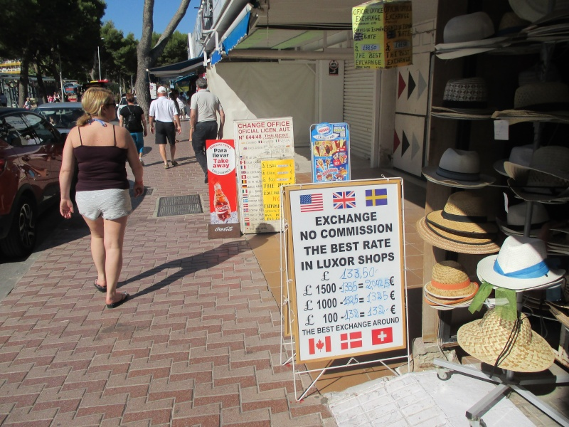 Exchange rates & Taxi Prices in Palma Nova June 2015 03210