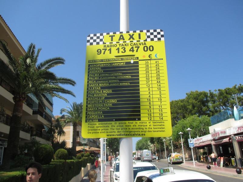 Exchange rates & Taxi Prices in Palma Nova June 2015 06110