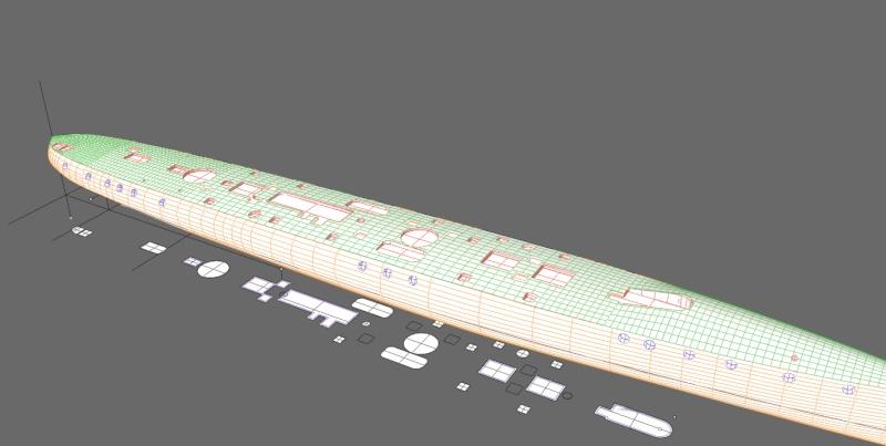 Aviso torpilleur 1905 en Scratch intégral au 1/100ème Pont410