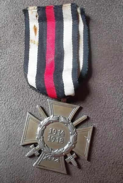 medaille allemande et son diplome 14 18 Image015