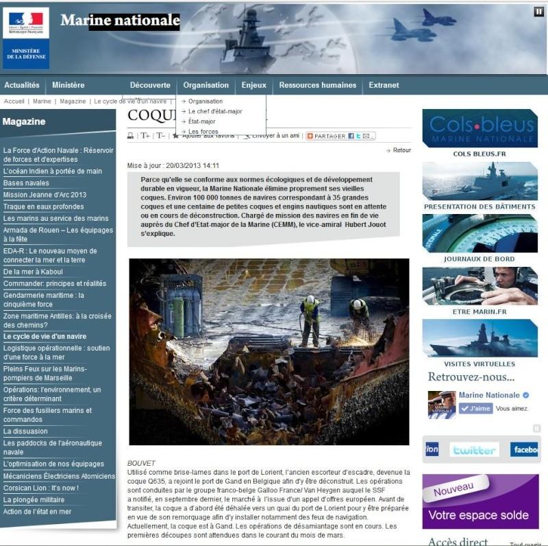 [Autre sujet Marine Nationale] Démantèlement, déconstruction des navires - TOME 2 - Page 4 Captur10
