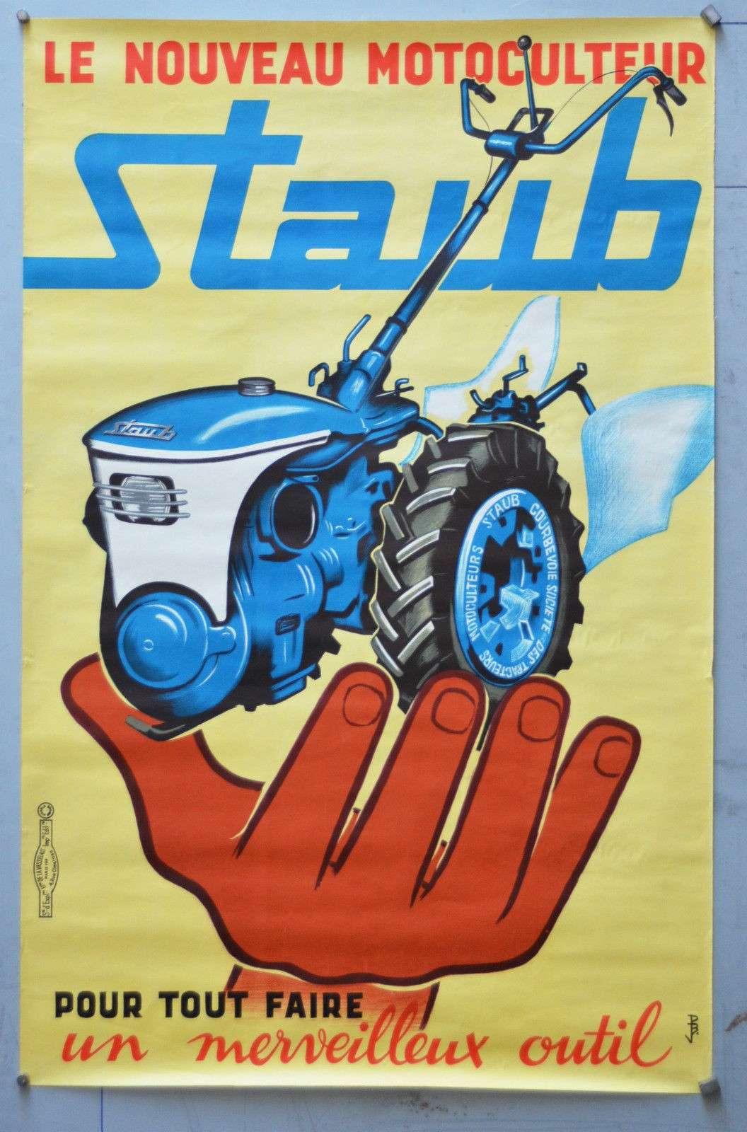 Notices Motoculture: Agria, Bernard, Bouyer, Ferrari, Goldoni, Honda, Kubota, Lombardini, Motostandard, Staub, Wolf ... Staub110