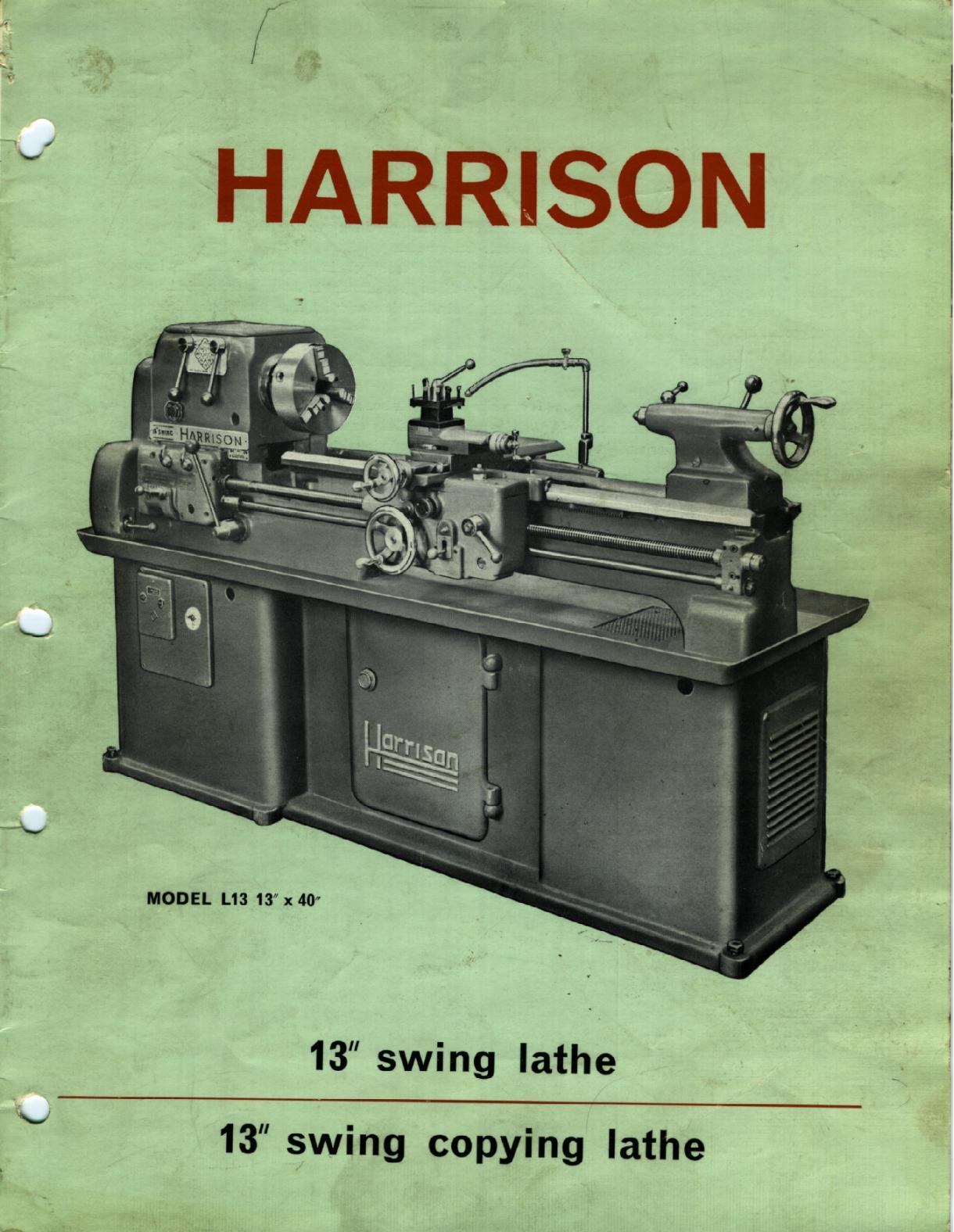 Harrison L13 inch  Uw112