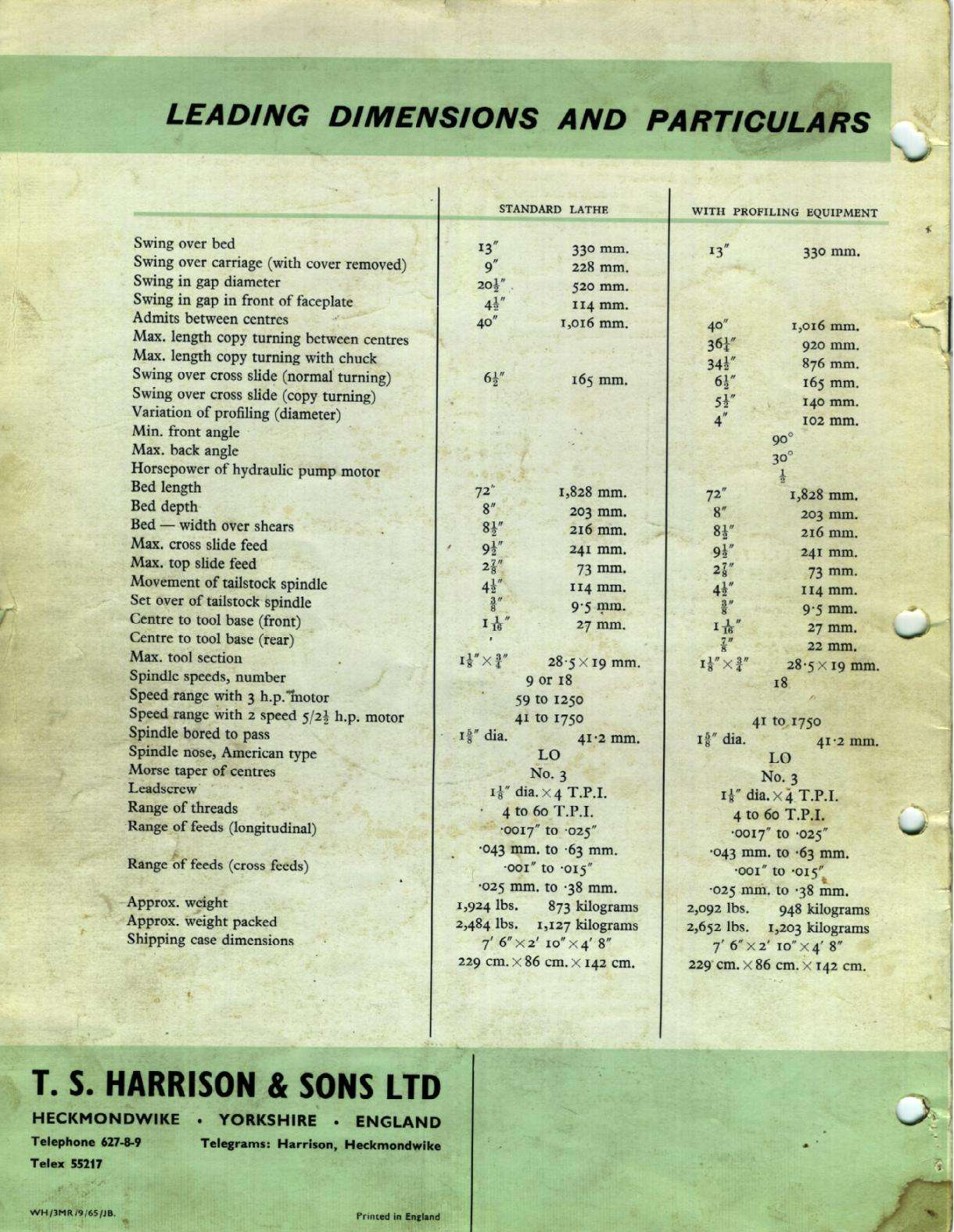 Harrison L13 inch  Uw810