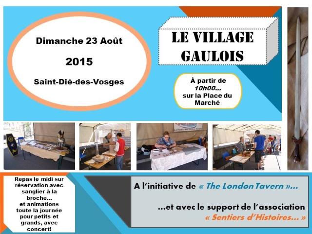 Village Gaulois à Saint-Dié-des-Vosges... Affich10