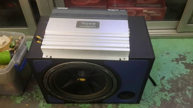 [WTS] Kicker Subwoofer + Rogers 1200W 2 Channel Amp 11540811