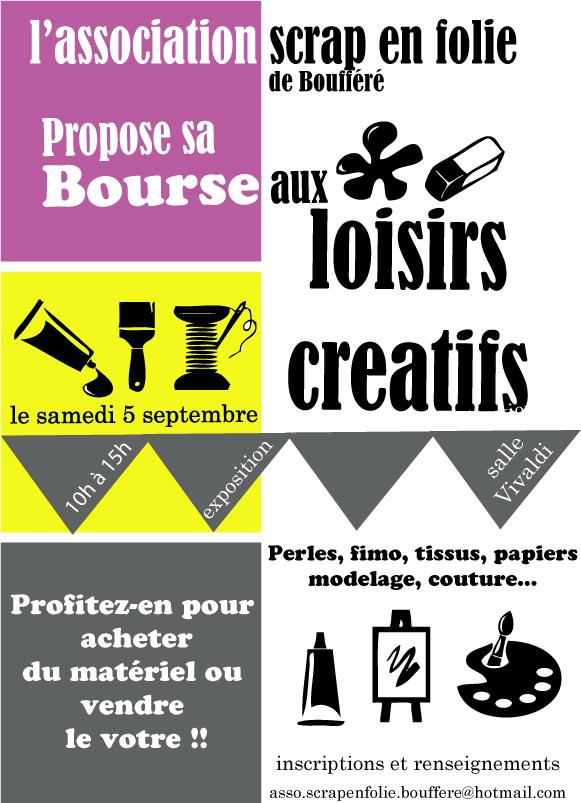 Bourse aux loisirs créatifs en Vendée !!!! Affich10