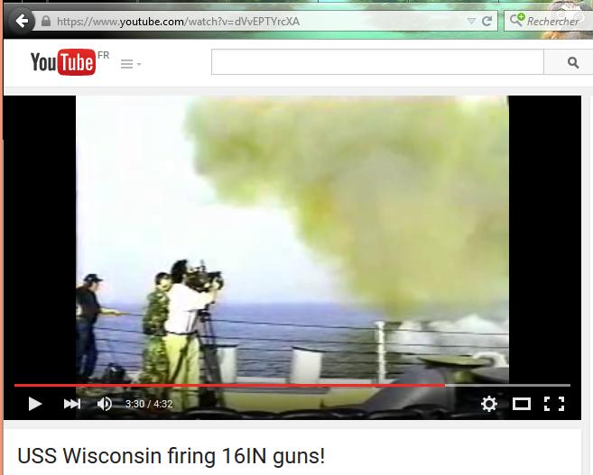 Très belle vidéo sur les IOWA fesant feu à volonté ! Wiscon10