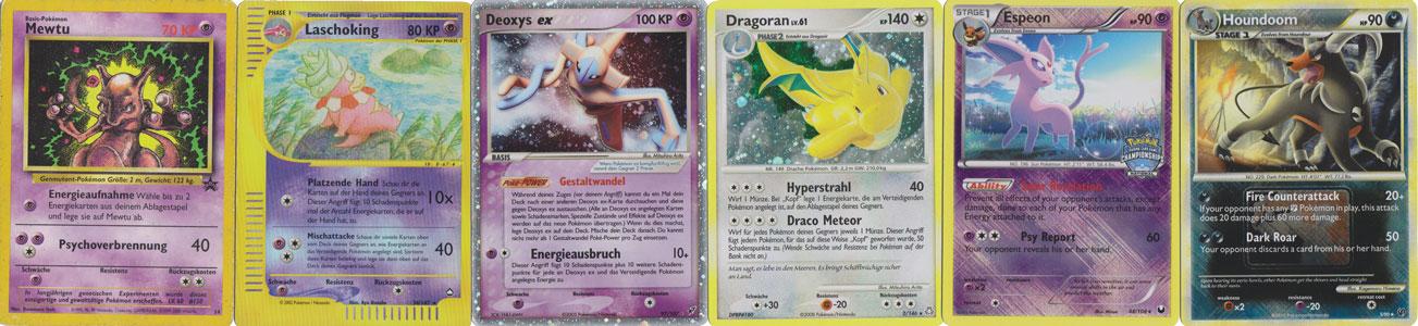 Das Design der Pokémon Karten hat sich oft geändert