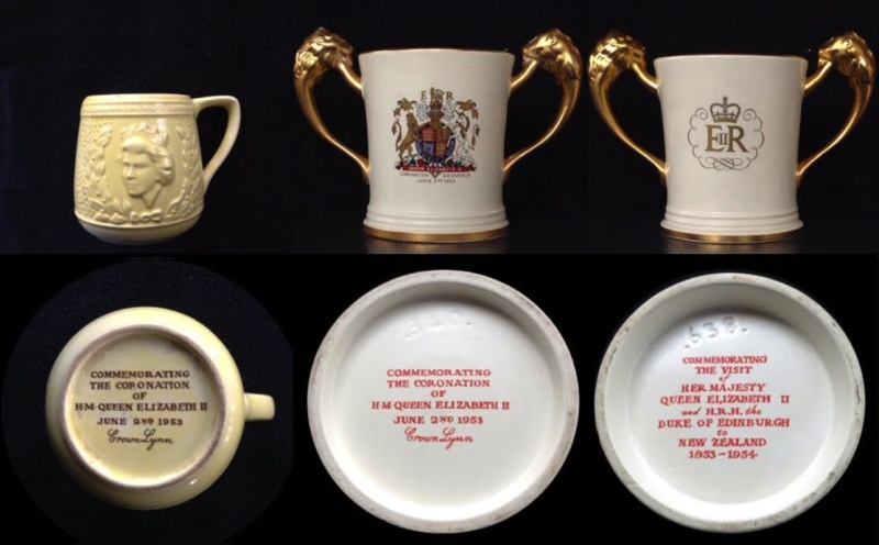 Backstamps for the gallery: Coronation Loving Cup remarked for the Royal Visit? Corona10