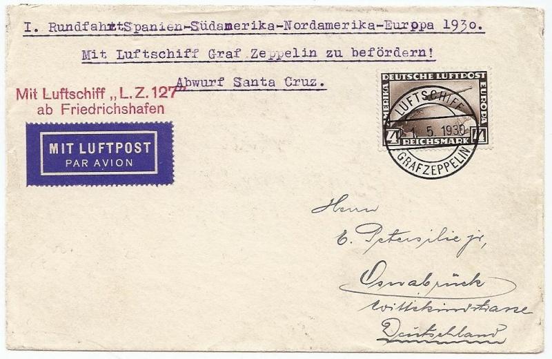 nach - Südamerikafahrt 1930, Post nach Praia (Kapverdische Inseln) 57_aa_13