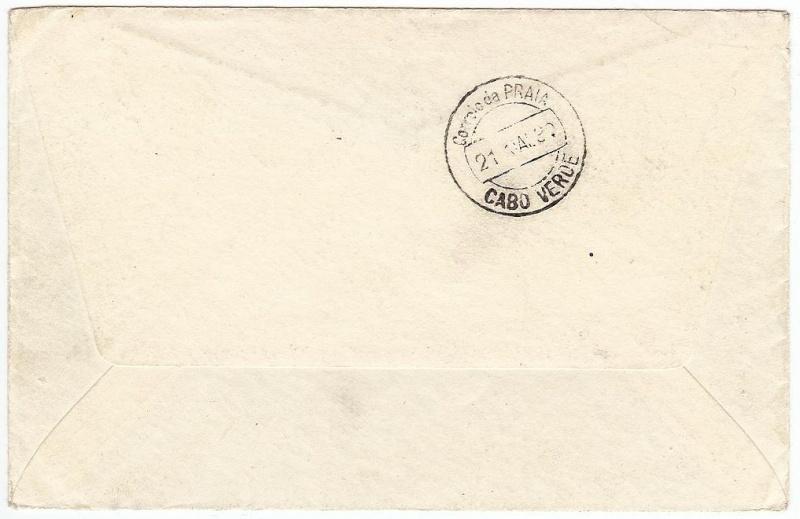 nach - Südamerikafahrt 1930, Post nach Praia (Kapverdische Inseln) 57_aa_14