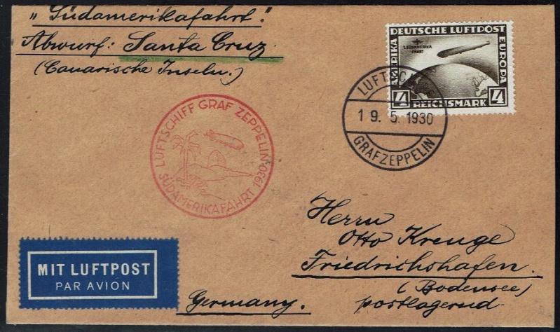 nach - Südamerikafahrt 1930, Post nach Praia (Kapverdische Inseln) 57_b_b10