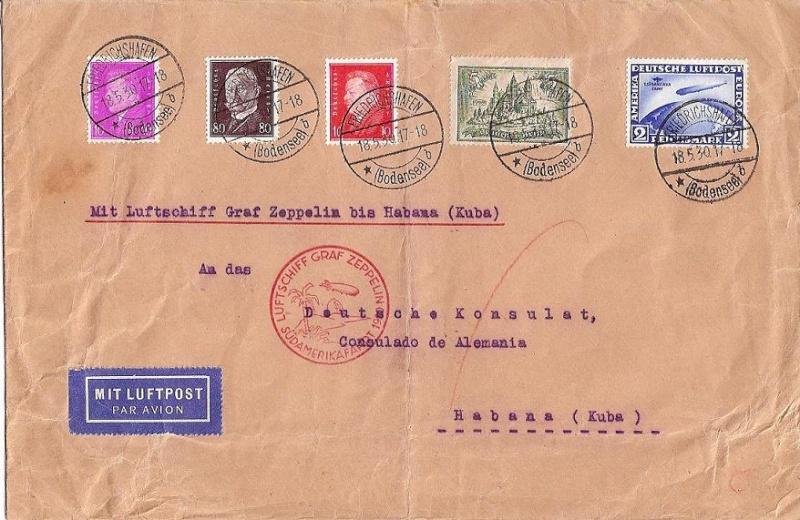 nach - Südamerikafahrt 1930, Post nach Praia (Kapverdische Inseln) 57_j_c10