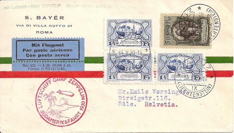 nach - Südamerikafahrt 1930, Post nach Praia (Kapverdische Inseln) 57_j_l10