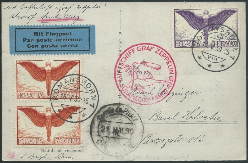 nach - Südamerikafahrt 1930, Post nach Praia (Kapverdische Inseln) 57_j_s10