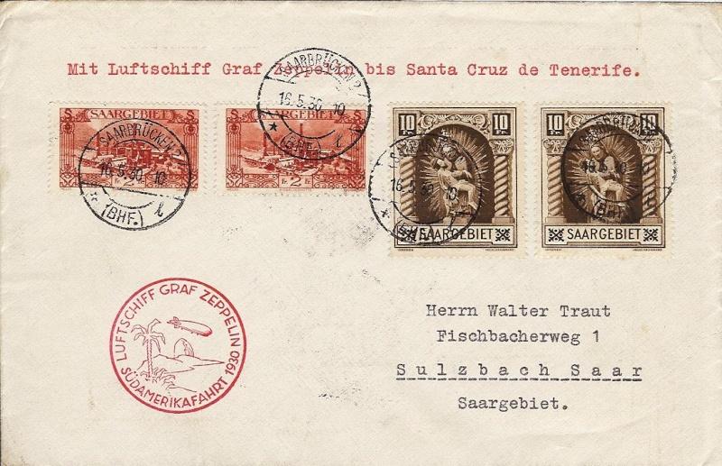 nach - Südamerikafahrt 1930, Post nach Praia (Kapverdische Inseln) 57_j_s11