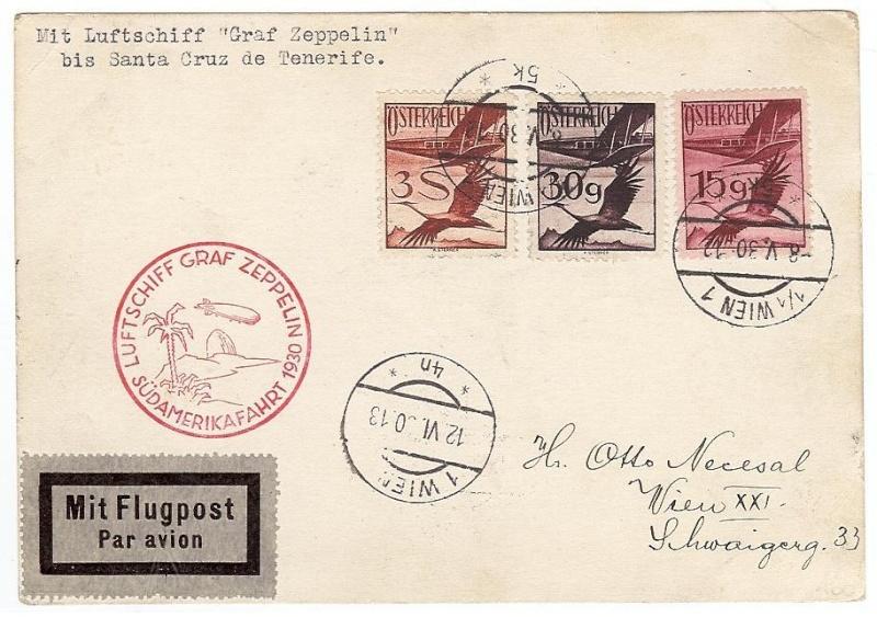 nach - Südamerikafahrt 1930, Post nach Praia (Kapverdische Inseln) 57_j_y10