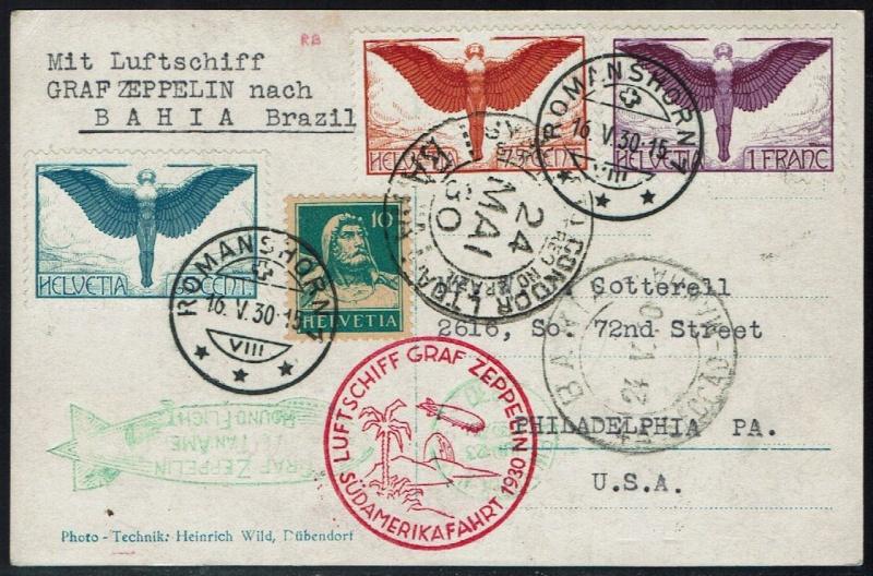 Südamerikafahrt 1930, Post nach (Salvador de) Bahia 57_l_s10