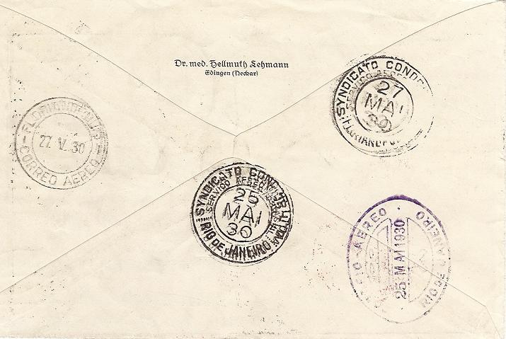 Südamerikafahrt 1930, Post nach Rio de Janeiro - Seite 2 57_mm_15
